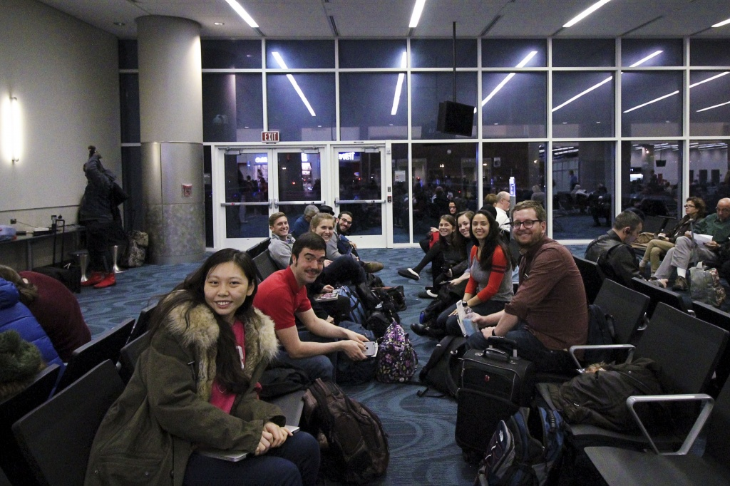Group in Airport to Paris