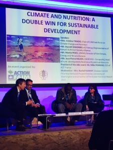 Climate change and nutrition panel