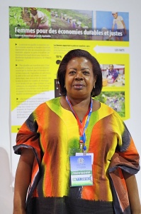 Gertrude Kabusimbi Kenyangi, Ugandan forestry activist from the United Nations Women and Gender Consistency (Photo credit: Jennie Sun)